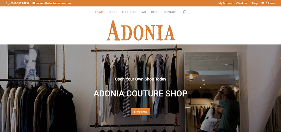 Adonia – Shoping Cart