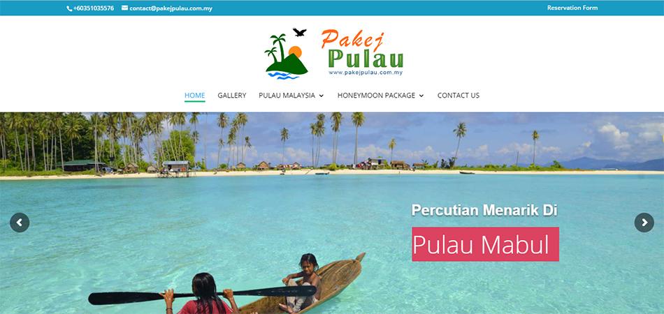 Pakej Pulau – Servis Bina Web