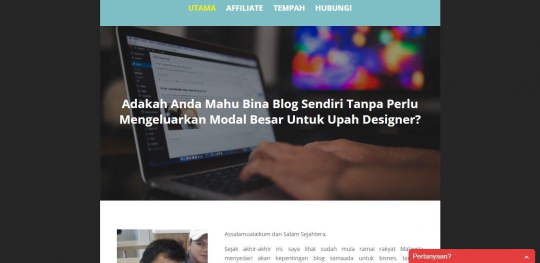 Bina Blog Sendiri – Servis Design Minisite