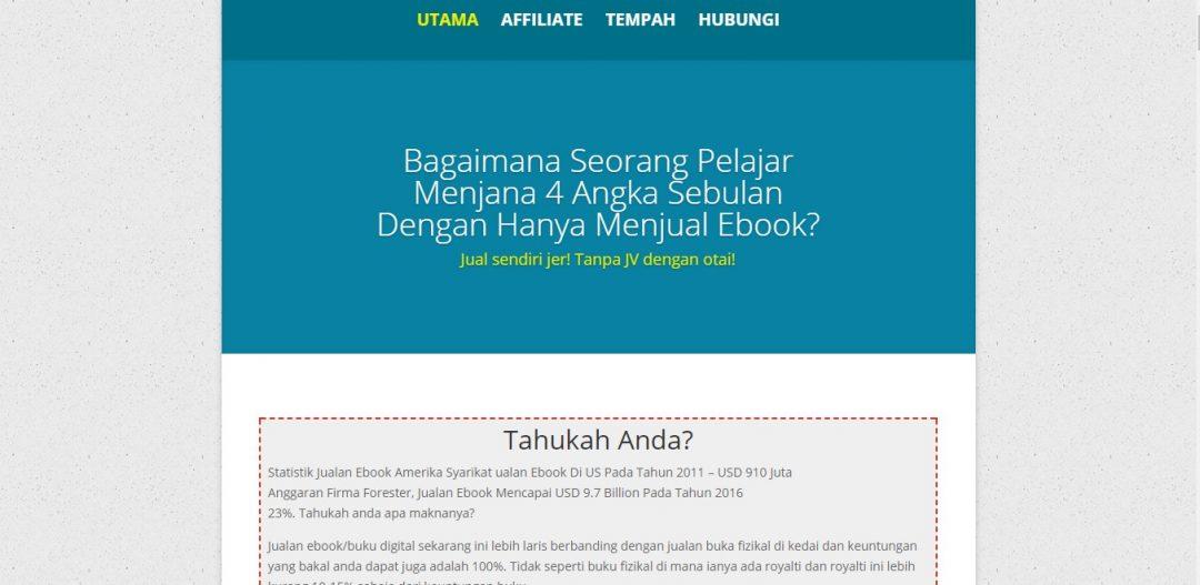 Bisnes Ebook – Servis Buat Minisite