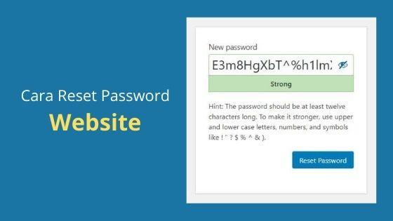 Cara Reset Password Jika Terlupa