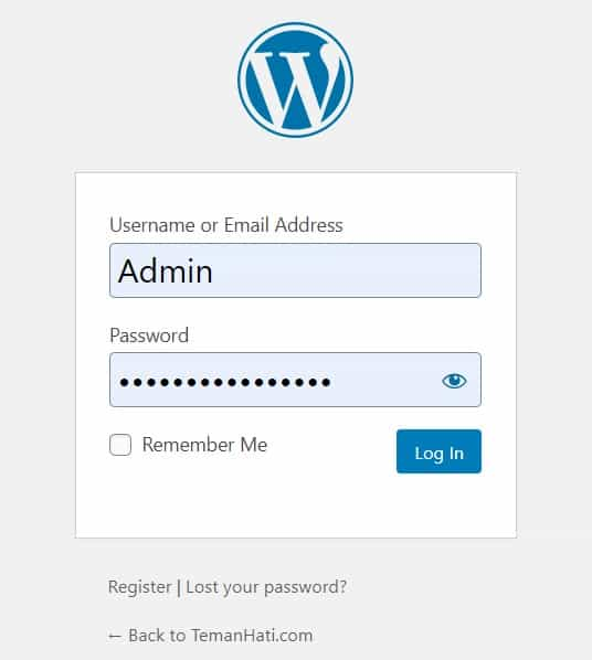 cara login masuk website